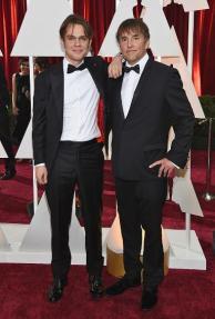 Oscars 2015 - Ellar Coltrane and Richard Linklater