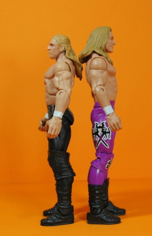 Triple H Basic Summerslam Heritage figure - back to back with Elite 23