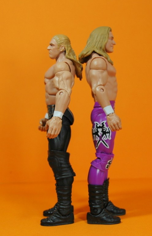 Triple H Basic Summerslam Heritage figure - back to back with Elite 23