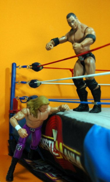 Triple H Basic Summerslam Heritage figure - going under the ring apron