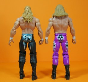 Triple H Basic Summerslam Heritage figure - rear shot of Elite 23 and Basic