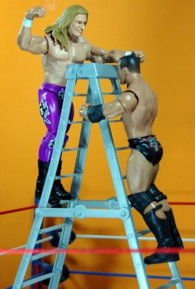 Triple H Basic Summerslam Heritage figure - vertical ladder shot vs Rock