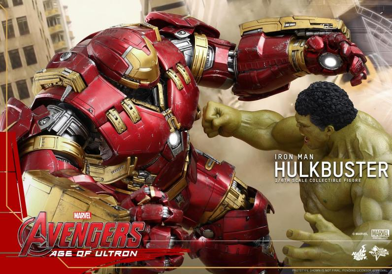 Hot Toys Avengers Age of Ultron - Hulkbuster Iron Man - Hulk punching him