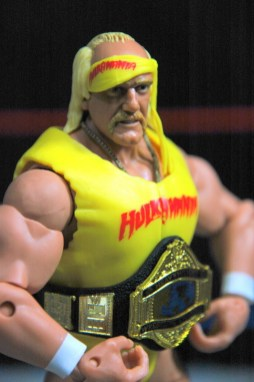 Hulk Hogan Defining Moments figure - Hogan close up