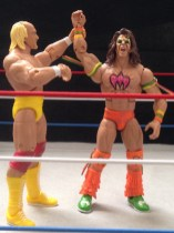 Hulk Hogan Defining Moments figure - raising Warrior's hand