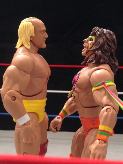 Hulk Hogan Defining Moments figure - Wrestlemania 6 face off with Ultimate Warrior