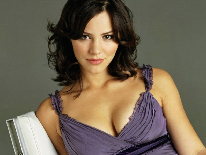 Katherine McPhee - low cut purple