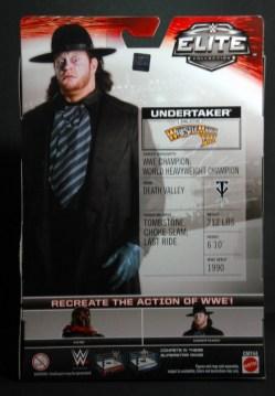 The Undertaker Wrestlemania Heritage - package back