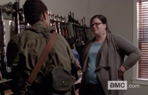 the-walking-dead-episode-513-sasha and Olivia