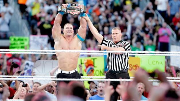 Wrestlemania 31 -Cena with US title