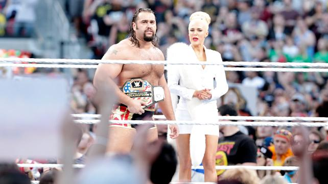 Wrestlemania 31 - Rusev and Lana
