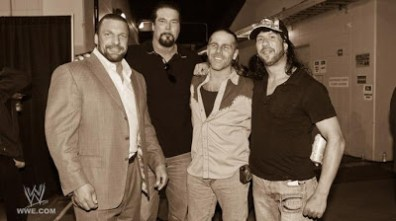 X-Pac, HBK, Triple H and Kevin Nash