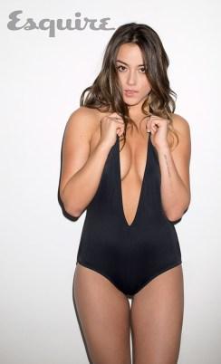 Chloe Bennet - black bathing suit