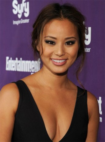 Jamie Chung - black low cut