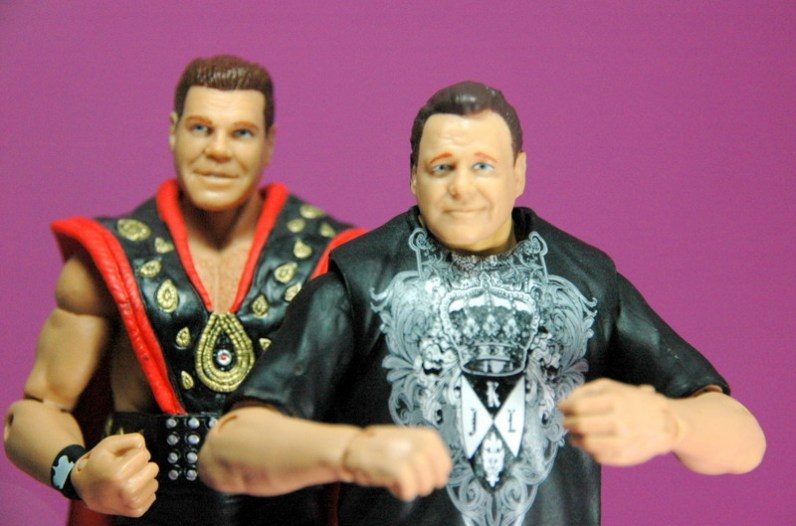 Jerry Lawler figure Basic 49 - Mattel - with Elite 18 Jerry Lawler