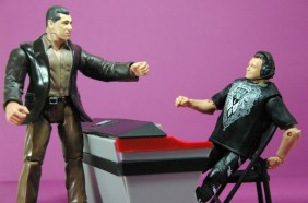 Jerry Lawler figure Basic 49 - Mattel - with Vince McMahon