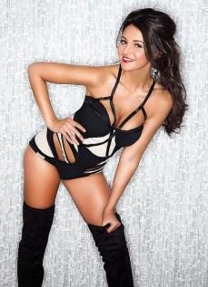 Michelle Keegan - leggins and corset