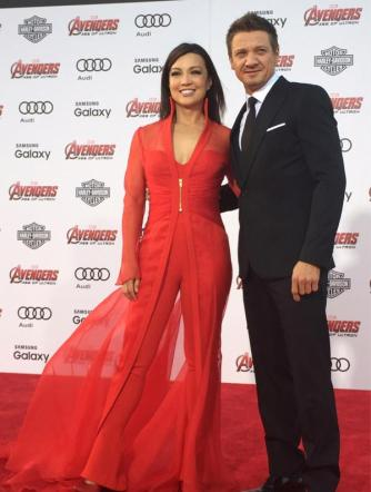 Ming Na Wen and Jeremy Renner