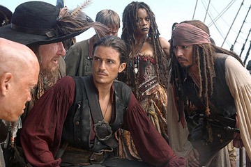 Pirates of the Caribbean- At World's End - Barbosa, Will Turner and Jack Sparrow
