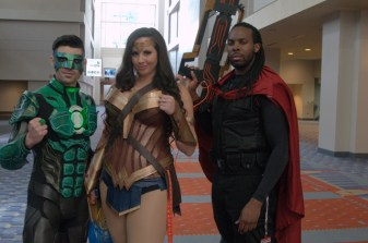 Awesome Con 2015 Day 1 cosplay -- Green Lantern, Wonder Woman and Bishop