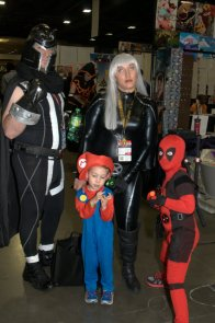 Awesome Con 2015 Day 1 cosplay -Magneto, Storm, Mario and Deadpool