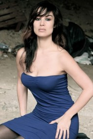 Berenice Marlohe - blue dress