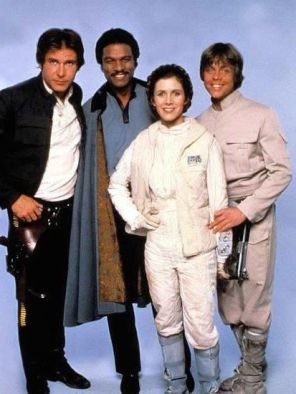 Harrison Ford, Billy Dee Williams, Carrie Fisher and Mark Hamill Empire Strikes Back