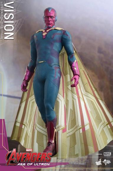 Hot Toys Avengers - Age of Ultron - Vision - in air