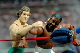 Junkyard Dog figure Mattel WWE Elite 33 - hard head close up