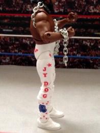 Junkyard Dog figure Mattel WWE Elite 33 - right side tight detail
