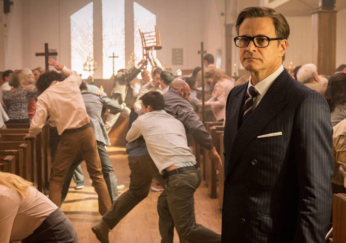 Kingsman The Secret Service - Colin Firth church scene