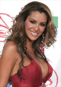Ninel Conde - red side shirt
