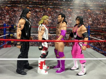 Razor Ramon Defining Moments -scale with Diesel, Shawn Michaels and Bret Hart
