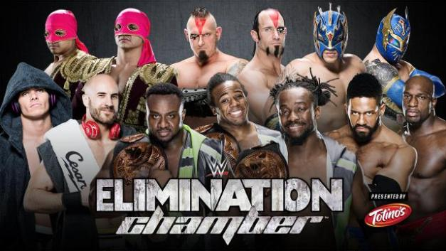WWE Elimination Chamber 2015 - tag team elimination chamber