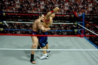 WWE Elite 34 Rusev review pics - Cena bear hug