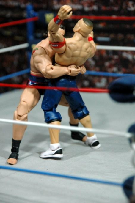 WWE Elite 34 Rusev review pics - Cena bear hug2