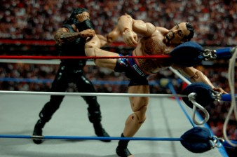 WWE Elite 34 Rusev review pics - savat kick Reigns
