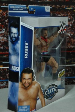 WWE Elite 34 Rusev review pics -side package