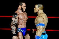 Randy Orton Mattel WWE Elite 35 -facing off with John Cena