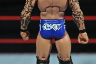 Randy Orton Mattel WWE Elite 35 - tight logo detail