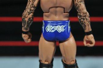 Randy Orton Mattel WWE Elite 35 - tight logo detail