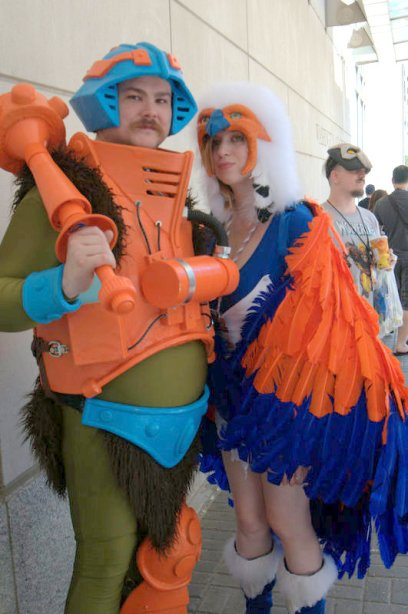 Awesome Con 2015 cosplay Saturday - Man at Arms and Sorceress