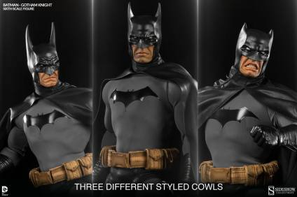 Batman Gotham Knight Sideshow - three cowls