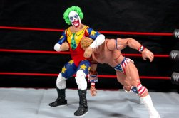 Doink the Clown WWE Mattel figure review - headlock Lex Luger