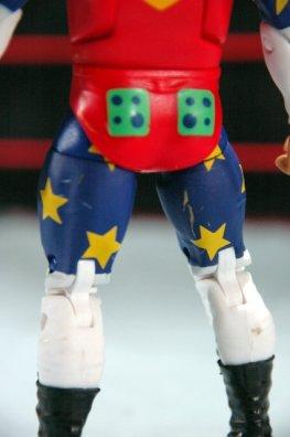 Doink the Clown WWE Mattel figure review - lower detail