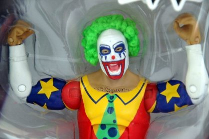 Doink the Clown WWE Mattel figure review - package closeup