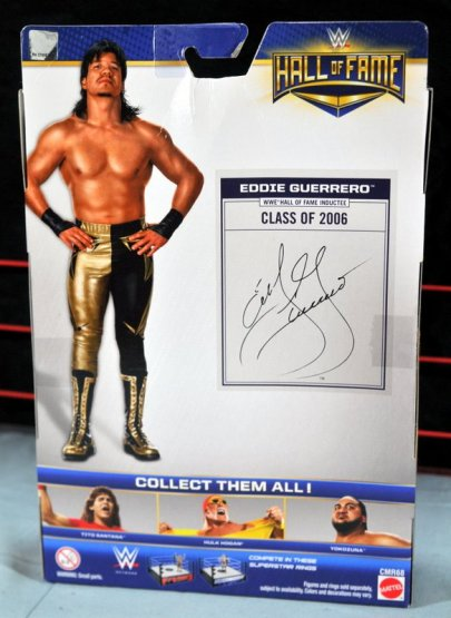 Eddie Guerrero Hall of Fame figure review -rear package