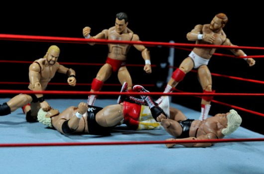 Four Horsemen figure review - Four Horsemen attack Dusty Rhodes