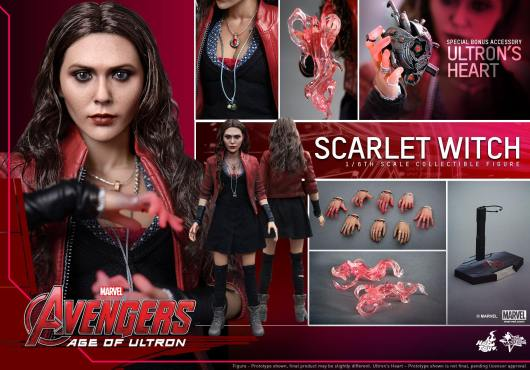 Hot Toys Avengers Age of Ultron Scarlet Witch figure - collage