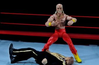 Hulk Hogan Hall of Fame figure -posing over Million Dollar Man